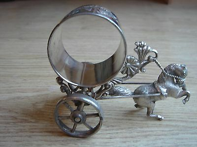 Antique Meridian B Company Horse & Cart  napkin ring  #214
