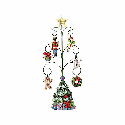 Jim Shore Christmas Tree With 6 Mini Ornaments Set/7 New 2017 4056588