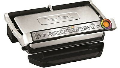 BRAND NEW!!! Tefal GC722 OptiGrill +XL Health Grill Automatic Sensor SILVER