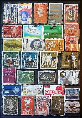 NETHERLAND GREAT MIXED lot of 30 different OLD used commemorative stamps  Lot #2