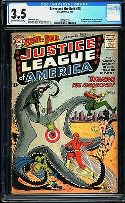 Brave and the Bold 28 CGC 3.5 Silver Age Key DC 1st Justice League IGKC L@@K