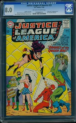 Justice League 23 CGC 8.0 OW/W Silver Age Key DC Comic 1st Queen Bee IGKC L@@K