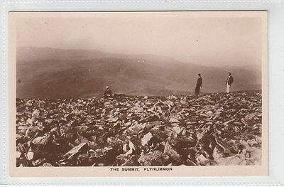 People On The Summit Plynlimon Cambrian Mountains Ceredigion Real Photograph