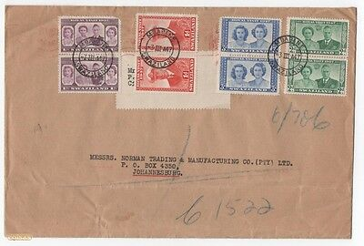 Cover Swaziland To South Africa Pairs 1947