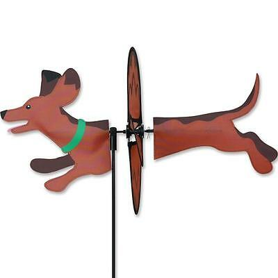 "19"" Black Cat Petite Garden Stake Wind Spinner By Premier Kites"