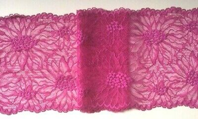 1m 27mm magenta pink jacquard embroidered ribbon lace applique trimming decor