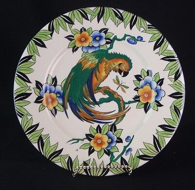 Vintage 1930 Rare Maling Pottery England 5454 Parrot on Blossom Branch Plate