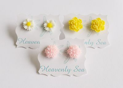 3 Pairs of Assorted Resin Earring Set