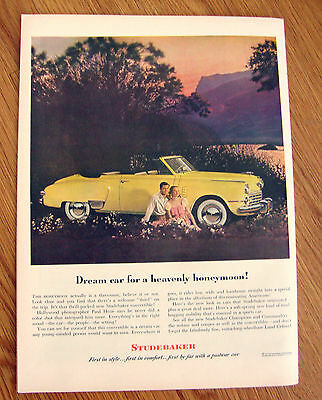 1948 Studebaker Convertible Ad  Dream Car for a Heavenly Honeymoon!