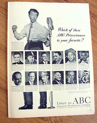 1948 Radio Ad ABC American Broadcasting   James Jimmy Stewart