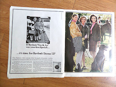 1968 Revlon Eterna 27 Ad    Irish Setter Dog