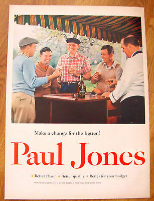 1955 Paul Jones Whiskey Ad - Golfing Theme