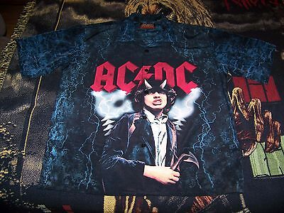 NEW Vintage 2002 AC/DC Rockware Dragonfly Button Dress Shirt Sz XXL Angus Young