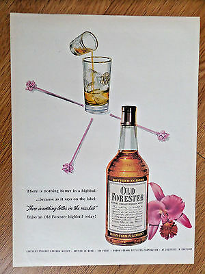 1953 Old Forester Whiskey Whisky Highball Ad 1953 Wheat Rice Chex Ad Farm Theme