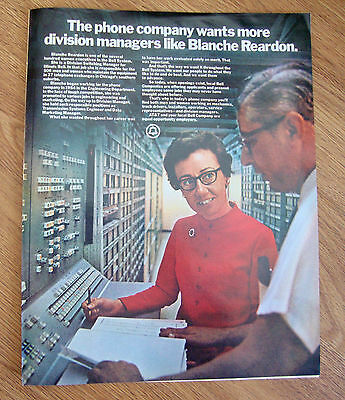1972 Bell Telephone Ad Division Switching Manager Reardon Illionois Bell
