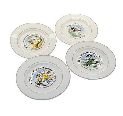 NEW! CARDEW DESIGN Alice in Wonderland Accent Salad/Dessert Plate Set of 4