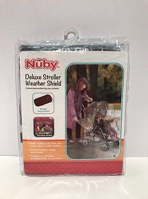 Nuby Deluxe Stroller Weather Shield Cover With Storage Bag -New-