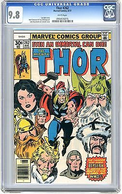 Thor  #262  CGC  9.8  NMMT   white pages