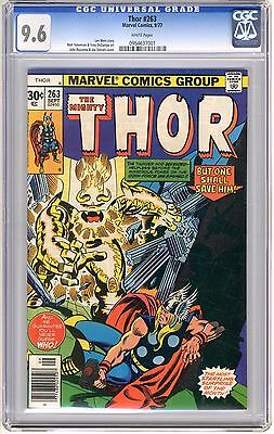Thor  #263  CGC  9.6  NM+   white pages