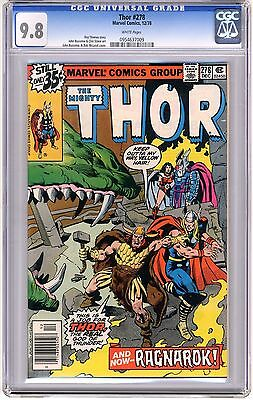 Thor  #278  CGC  9.8  NMMT  white pages