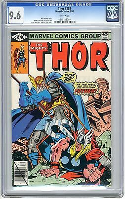 Thor  #292  CGC  9.6  NM+  white pages