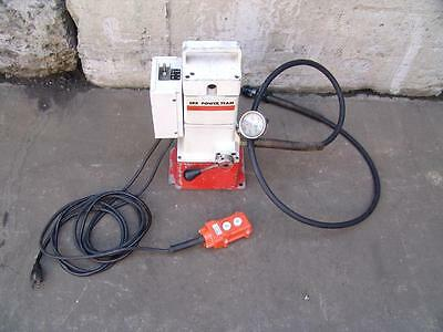 Power Team Spx 10,000 Psi Hydraulic Pump For T&b Greenlee Huskie Enerpac Tools