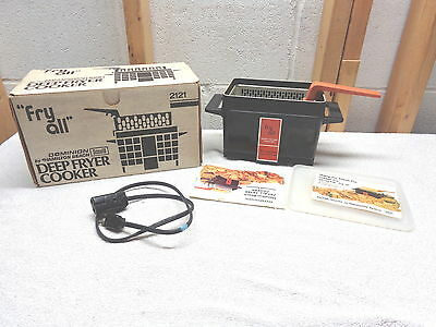Vintage Dominion Scovill Hamilton Beach FRY ALL Deep Fryer Cooker~2121~NOS!