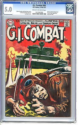 G.I. Combat  #85  CGC  5.0  VGF  cream to off - white pages