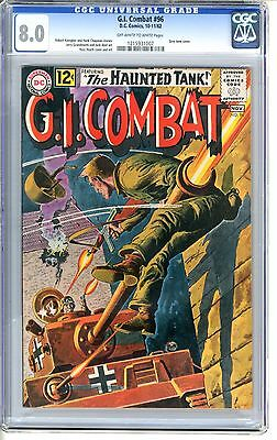 G.I. Combat  #96  CGC  8.0  VF  off - white to white pages