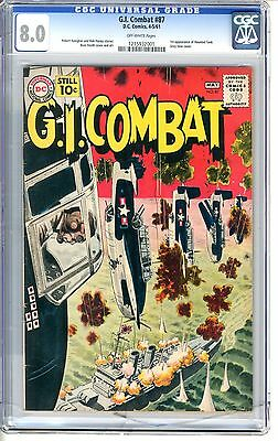G.I. Combat  #87  CGC  8.0  VF  off - white pages  1st Tank Killer