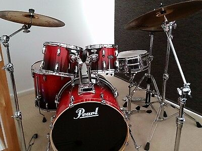 PEARL VISION  Full Acoustic Drum Kit - As new condition