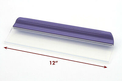 """One Pass Waterblade T-Bar Silicone Squeegee 12"""" Purple for Home Auto RV Fleet"""