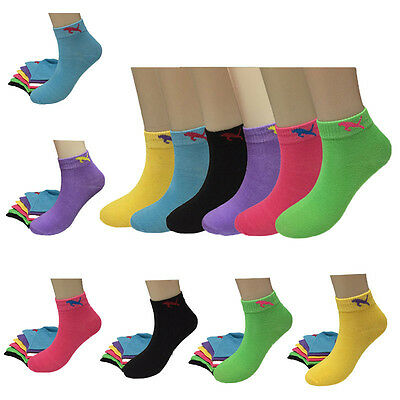 New Fashion Lot 12 Pairs Womens Tiger Candy Color Casual Low Cut Socks Size 9-11
