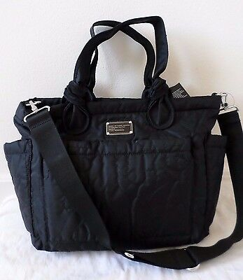 New Marc by Marc Jacobs Eliza Pretty Nylon Quilted Baby Diaper Tote Bag Black