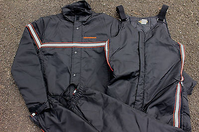 Mens Harley Davidson Jacket and Bib Overalls Nylon Thinsulate Large USA Safety