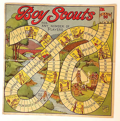 Boy Scouts Vintage Board Game - 'For Any Number of Players'