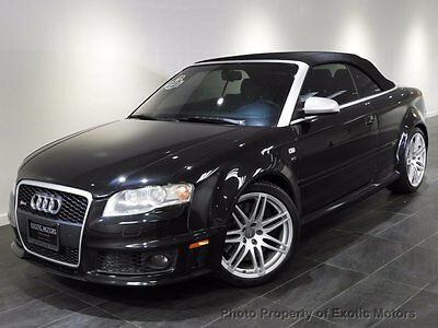 2008 Audi RS4 2dr Cabriolet 2008 AUDI RS4 CONVERTIBLE 6-SPEED NAV HEATED-SEATS BOSE XENONS 1-OWNER MSRP$84k