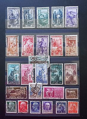 ITALY     Nice OLD Mixed Lot of 26 STAMPS   Used    Lot #1