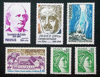FRANCE    NICE LOT of 6 old MINT  Stamps  unused  MNH