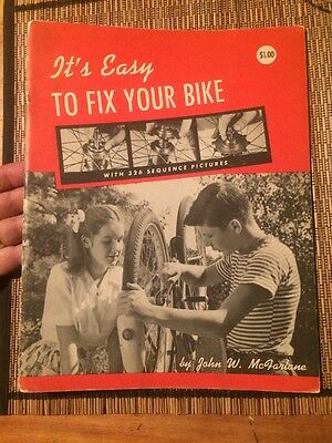 """1947 """"IT'S EASY TO FIX YOUR BIKE"""" vintage bicycle repair BOOK Free Shipping"""