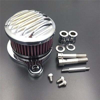 Chrome Air Cleaner Intake Filter For Harley Sportster XL883 XL1200 1988-2015