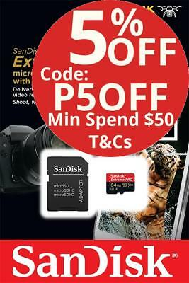 SanDisk 64GB Extreme Pro micro SD SDXC 100MB/s Class 10 U3 V30 Memory Card 64G