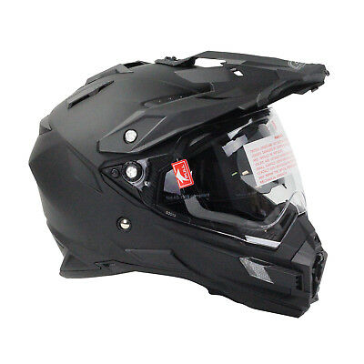 Oneal 2018 Sierra Dual Sport Helmet Matt Black Motocross Mx Dirt Bike