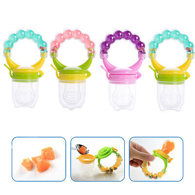 Random Baby Nipple Food Fruit Soft Feeder Silicone Pacifier Feeding Tool Teether