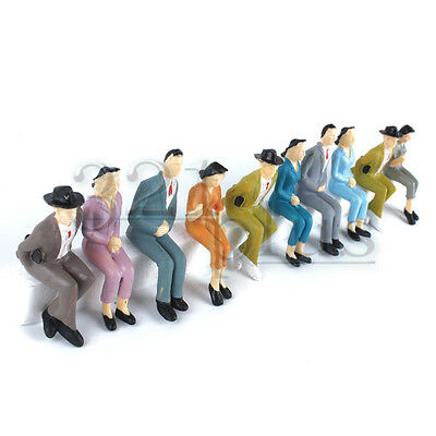 10 pcs. Sitting 1:24 Scale Figures People G Scale Figures Male Female Human 1/25