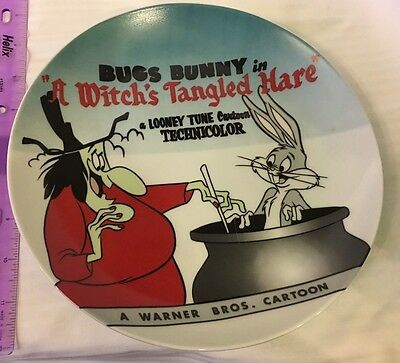 Warner Bros Looney Tunes Bugs Bunny And Witch Collector Plate