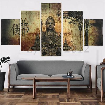 Unframed Large Modern Buddha Print Art Canvas Painting Mural Decor Wall Picture