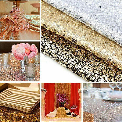 """12"""" x 72"""" Choose Color Sparkly Sequin Table Runners for Wedding Table New"""