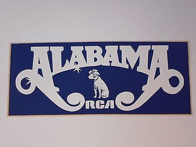 ALABAMA Band / RCA 1981 Souvenir Bumper Sticker - Fan Club