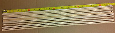 Two Dozen Pieces  45cm x 5mm Bamboo Dowel Rods Sticks Crafts Garden Greenhouse
